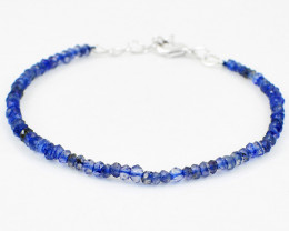 Blue Iolite Faceted Beads Necklace
