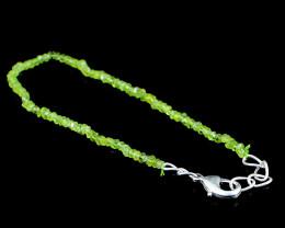 Green Phrenite Faceted Beads Bracelet