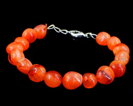 Orange Carnelian Beads Barcelet