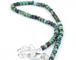 Azurite Faceted Beads Bracelet