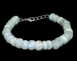 Blue Flash Moonstone Beads Bracelet