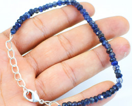 Blue Iolite Round Cut Beads Bracelet