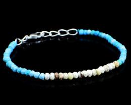 Picture Jasper & Turquoise Beads Bracelet