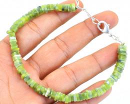 Green Garnet Beads Bracelet