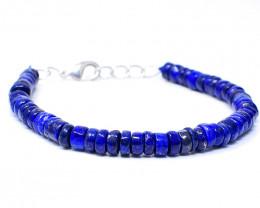 Blue Lapis Lazuli Beads Barcelet