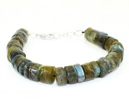 Amazing Flash Labradorite Beads Bracelet