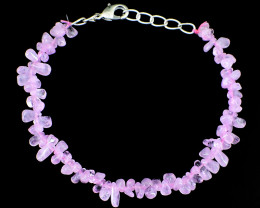 Pink Rose Quartz Tear Drop Beads Bracelet