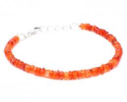 Orange Carnelian Beads Bracelet