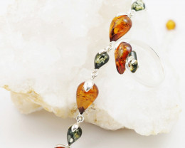 Baltic Amber Sale, Bracelet & amber ring size 7.5  ,AM 731