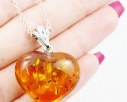 Baltic Amber Sale, Silver Necklace  , direct from Poland  AM 729