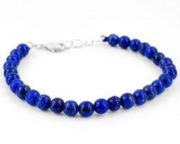 Round Shape Blue Lapis Lazuli Beads Bracelet