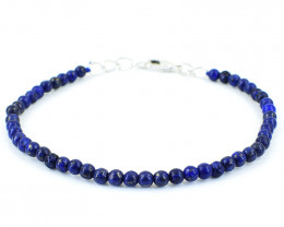Blue Lapis Lazuli Beads Bracelet - Exclusive