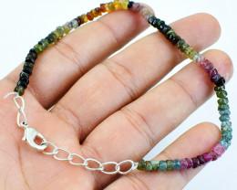 Watermelon Tourmaline Beads Bracelet