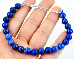 Round Lapis Lazuli Beads Barcelet