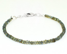 Amazing Flash Labradorite Faceted Beads Bracelet