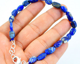 Blue Lapis Lazuli Beads Bracelet
