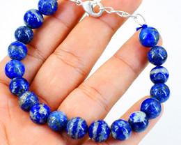 Blue Lapis Lazuli Round Beads Barcelet