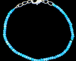 Turquoise Faceted Beads Bracelet