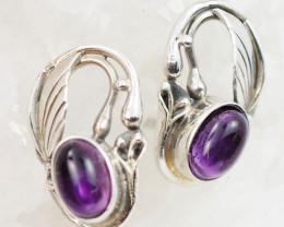 Cute Amethyst  silver Earrings, AM 744