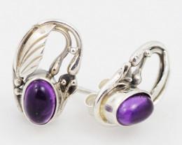 cute Amethyst  silver Earrings, AM 745