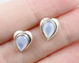 cute Moonstone  silver Earrings, AM 748
