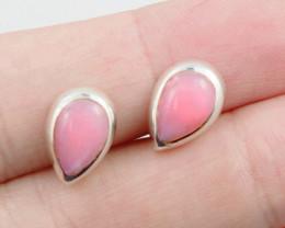 cute Pink Opal  silver Earrings, AM 753