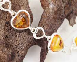 Baltic Amber Sale, Silver Bracelet , direct from Poland  AM 755