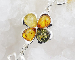 Baltic Amber Sale, Silver Bracelet , direct from Poland  AM 756