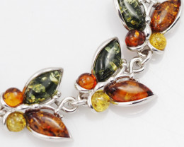 Baltic Amber Sale, Silver Bracelet , direct from Poland  AM 757