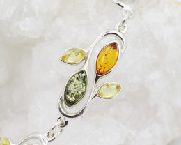 Baltic Amber Sale, Silver Bracelet , direct from Poland  AM 758