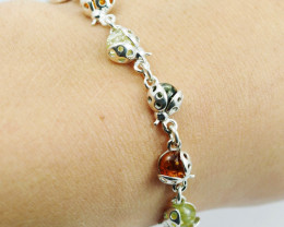Baltic Amber Sale, Silver Bracelet , direct from Poland  AM 760