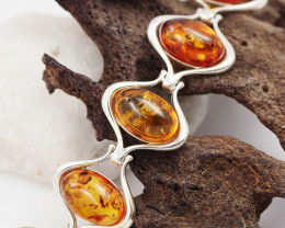 Baltic Amber Sale, Silver Bracelet , direct from Poland  AM 761