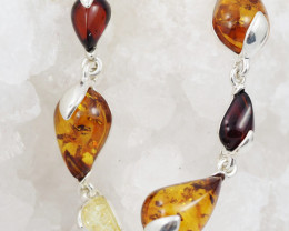 Baltic Amber Sale, Silver Bracelet , direct from Poland  AM 762