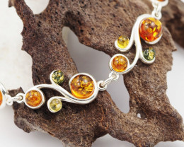 Baltic Amber Sale, Silver Bracelet , direct from Poland  AM 763