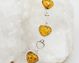 Baltic Amber Sale, Silver Bracelet , direct from Poland  AM 764