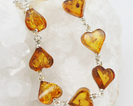 Baltic Amber Sale, Silver Bracelet , direct from Poland  AM 765