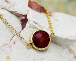 Stylish Garnet Bracelet in 18K Gold - 69 - B 9933C 1400