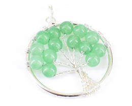 Green Aventurine Tree Pendant