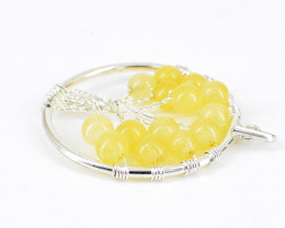 Yellow Aventurine Tree Pendant