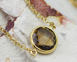 Stylish Smokey Quartz Bracelet in 18K Gold - 70 - B 9933C 1400