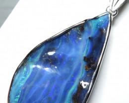 Australian Boulder Opal Freeform Hand Made Silver
