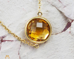 Stylish Citrine Bracelet in 18K Gold - 60 - B 9933C 1650