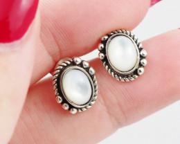 flash Moonstone  silver Earrings,  ,AM 803