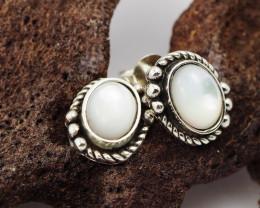 flash Moonstone  silver Earrings,  ,AM 804