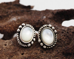 flash Moonstone  silver Earrings,  ,AM 805