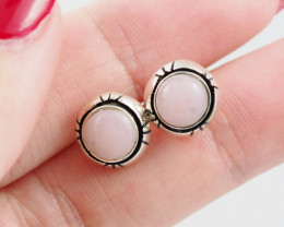 pink natural Peru  silver Earrings,  ,AM 810