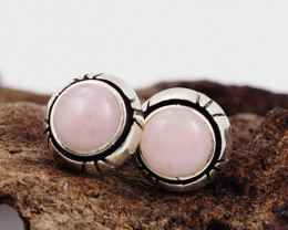 pink natural Peru  silver Earrings,  ,AM 811
