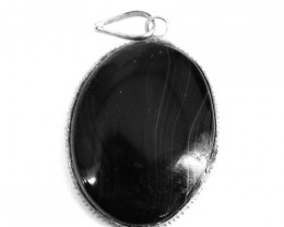 Black Onyx Oval Shape Pendant