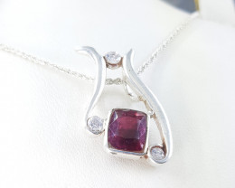 Natural Ruby Light & small Zircons