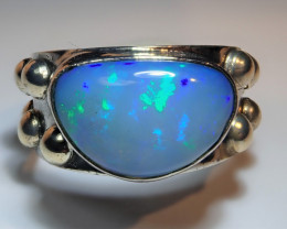 6 SZ BRILLIANT WELO OPAL STERLING RING